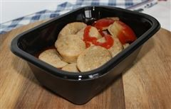 Kant-en-klaar braadworst met currysaus